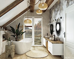 Dom w stylu boho&glam - Łazienka, styl skandynawski - zdjęcie od DOBRY UKŁAD-Sandra Białkowska - Homebook