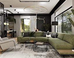 Salon z kuchnią w loftowych klimatach - Salon, styl industrialny - zdjęcie od DOBRY UKŁAD-Sandra Białkowska - Homebook