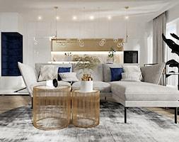 Mieszkanie w stylu nowoczesny glamour - Salon - zdjęcie od DOBRY UKŁAD-Sandra Białkowska - Homebook