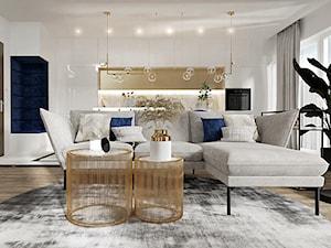 Mieszkanie w stylu nowoczesny glamour