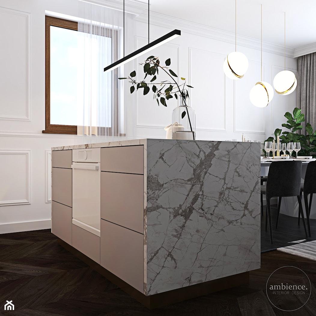 Warszawski apartament - Kuchnia, styl nowoczesny - zdjęcie od Ambience. Interior design - Homebook