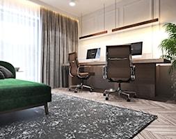 Apartament w Londynie - strefa dzienna - Średnie białe biuro domowe w pokoju, styl nowoczesny - zdjęcie od Ambience. Interior design