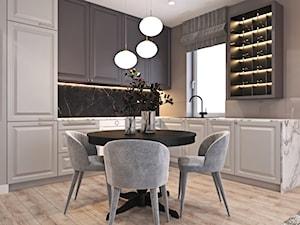 Mieszkanie łączące klasykę i nowoczesność - Średnia otwarta beżowa kuchnia w kształcie litery l z oknem, styl klasyczny - zdjęcie od Ambience. Interior design