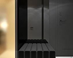 Kobiece mieszkanie w Warszawie - Mały czarny hol / przedpokój, styl nowoczesny - zdjęcie od Ambience. Interior design
