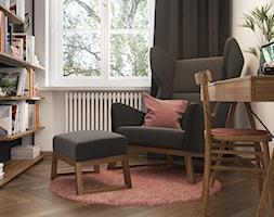 Booking - Małe białe biuro domowe w pokoju, styl vintage - zdjęcie od NSKY architekci - Homebook