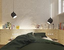 4nir - Mała biała sypialnia małżeńska, styl vintage - zdjęcie od NSKY architekci - Homebook