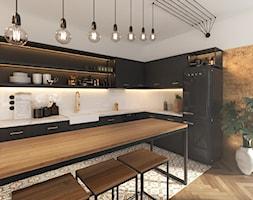 Czar... no! - Średnia otwarta biała kuchnia w kształcie litery l w aneksie, styl vintage - zdjęcie od NSKY architekci - Homebook