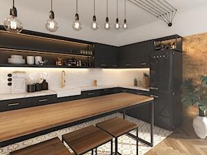 Czar... no! - Średnia otwarta biała kuchnia w kształcie litery l w aneksie, styl vintage - zdjęcie od NSKY architekci
