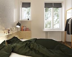 4nir - Średnia biała sypialnia małżeńska z garderobą, styl vintage - zdjęcie od NSKY architekci - Homebook