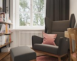 Booking - Małe szare biuro domowe w pokoju, styl vintage - zdjęcie od NSKY architekci - Homebook