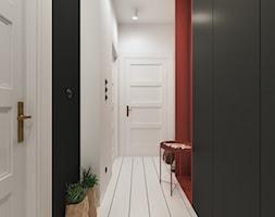 Last ryko - Średni biały czarny czerwony hol / przedpokój, styl nowoczesny - zdjęcie od NSKY architekci