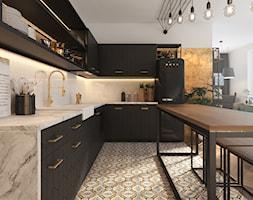 Czar... no! - Duża otwarta biała kuchnia w kształcie litery l w aneksie z oknem, styl vintage - zdjęcie od NSKY architekci - Homebook