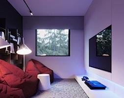 DĄBROWA - Mały fioletowy pokój dziecka dla chłopca dla dziewczynki dla malucha dla nastolatka - zdjęcie od Hi-Light Architects