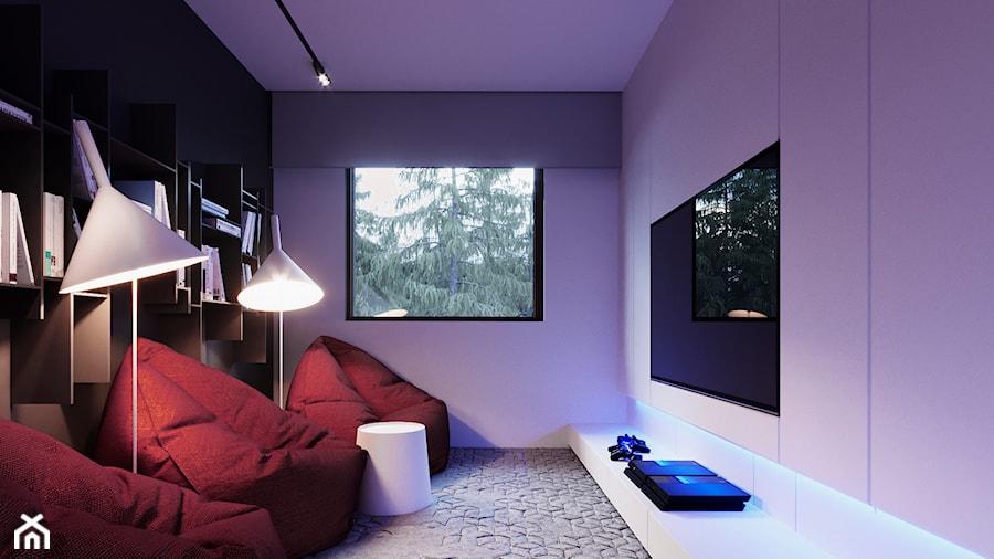 Aranżacje wnętrz - Pokój dziecka: DĄBROWA - Mały fioletowy pokój dziecka dla chłopca dla dziewczynki dla malucha dla nastolatka - Hi-Light Architects. Przeglądaj, dodawaj i zapisuj najlepsze zdjęcia, pomysły i inspiracje designerskie. W bazie mamy już prawie milion fotografii!