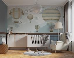 ELEGANCKI APARTAMENT W WARSZAWIE - Średni czarny pokój dziecka dla chłopca dla dziewczynki dla niemowlaka, styl nowoczesny - zdjęcie od Balicka Design
