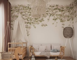 DOM POD WARSZAWĄ - Średni biały pokój dziecka dla chłopca dla dziewczynki dla niemowlaka, styl nowoczesny - zdjęcie od Balicka Design