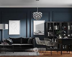 Zielona Gęś - Średnie niebieskie białe biuro domowe w pokoju, styl nowoczesny - zdjęcie od Balicka Design - Homebook