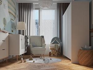 ELEGANCKI APARTAMENT W WARSZAWIE - Średni szary czarny pokój dziecka dla chłopca dla dziewczynki dla niemowlaka, styl nowoczesny - zdjęcie od Balicka Design