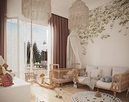 DOM POD WARSZAWĄ - Średni biały pokój dziecka dla dziewczynki dla niemowlaka, styl nowoczesny - zdjęcie od Balicka Design