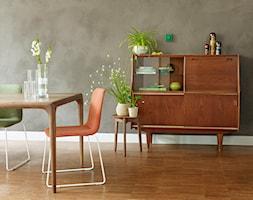 Aranżacje - Mały szary salon z jadalnią, styl vintage - zdjęcie od JUNG Polska - Homebook