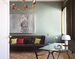 Wnętrze weneckiej kamienicy - Duży szary biały salon z jadalnią, styl eklektyczny - zdjęcie od JUNG Polska - Homebook