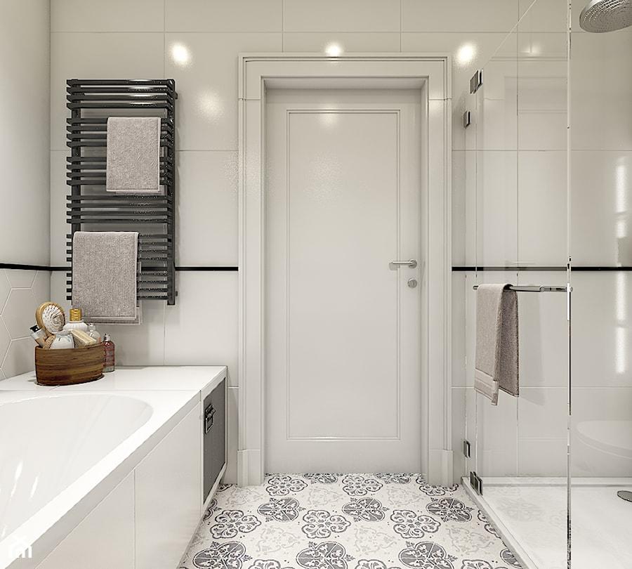 """""""wszystko i nic"""" czyli styl mieszany. - Średnia biała łazienka w bloku bez okna, styl eklektyczny - zdjęcie od WERDHOME"""