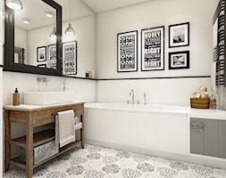 """""""wszystko i nic"""" czyli styl mieszany. - Średnia biała łazienka, styl eklektyczny - zdjęcie od WERDHOME"""