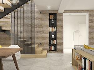 Dom pod Wolbromiem - Średnie wąskie schody jednobiegowe drewniane metalowe, styl nowoczesny - zdjęcie od WERDHOME