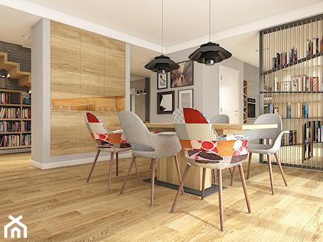 Aranżacje wnętrz - Jadalnia: Dom w Opolu - Średnia otwarta biała jadalnia w salonie, styl nowoczesny - WERDHOME. Przeglądaj, dodawaj i zapisuj najlepsze zdjęcia, pomysły i inspiracje designerskie. W bazie mamy już prawie milion fotografii!