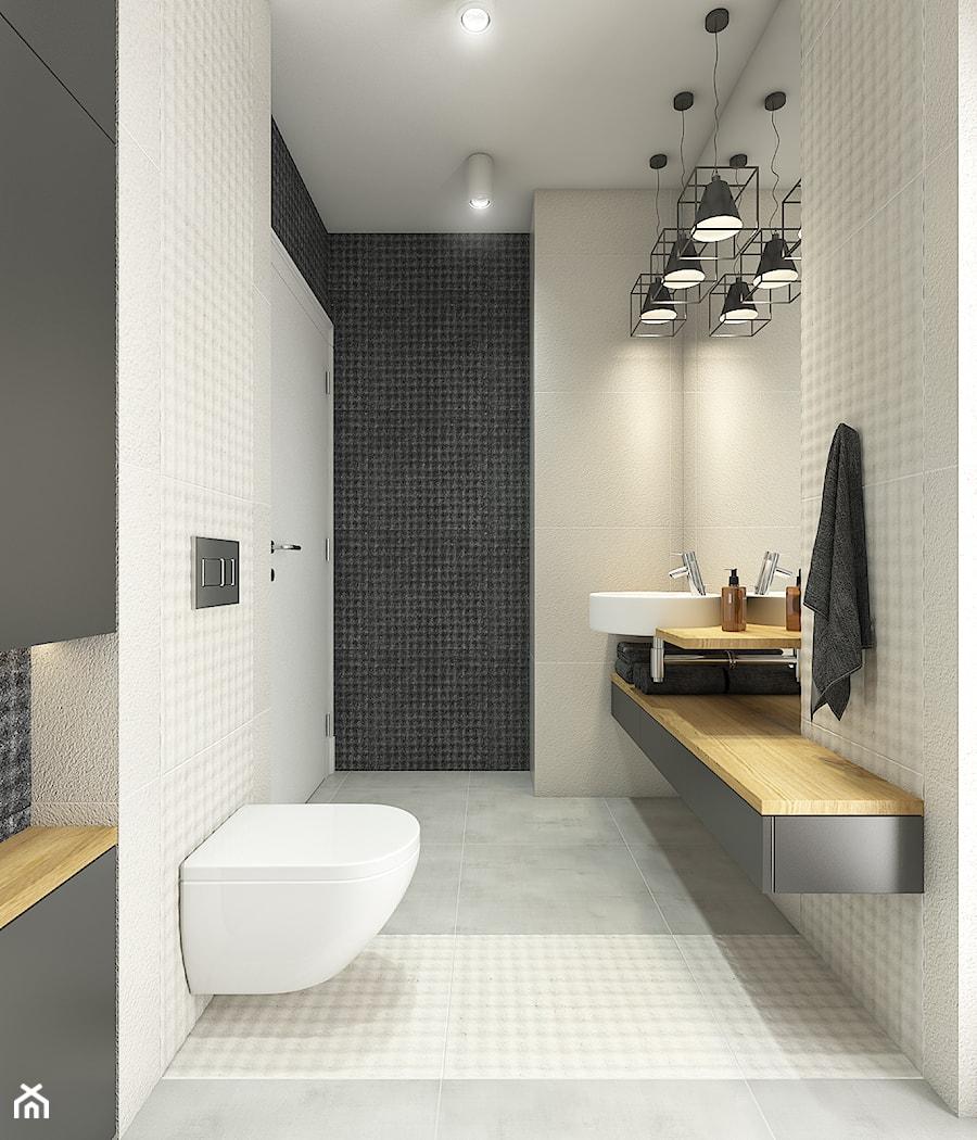 Aranżacje wnętrz - Łazienka: Dom w Opolu - Średnia biała beżowa czarna łazienka bez okna, styl nowoczesny - WERDHOME. Przeglądaj, dodawaj i zapisuj najlepsze zdjęcia, pomysły i inspiracje designerskie. W bazie mamy już prawie milion fotografii!