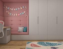 Dom Luksemburg - styl nowoczesny - Średni szary czerwony pokój dziecka dla dziewczynki dla ucznia dla malucha dla nastolatka, styl nowoczesny - zdjęcie od WERDHOME