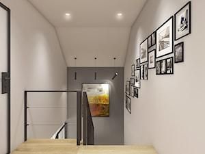 Dom pod Krakowem - przestrzeń zupełna - Mały szary hol / przedpokój, styl nowoczesny - zdjęcie od WERDHOME