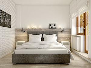 """""""wszystko i nic"""" czyli styl mieszany. - Średnia biała sypialnia małżeńska, styl eklektyczny - zdjęcie od WERDHOME"""