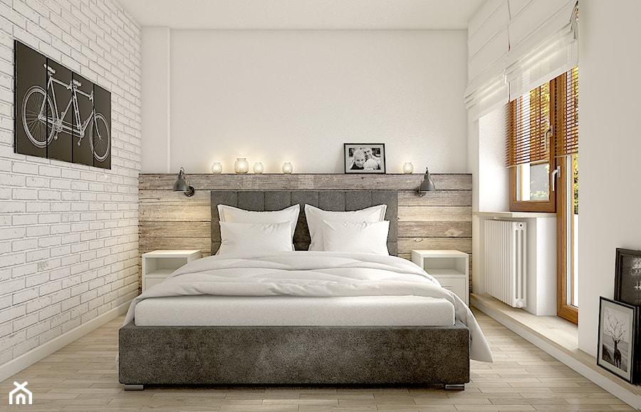 Wszystko i nic czyli styl mieszany rednia sypialnia for Habitaciones de matrimonio modernas