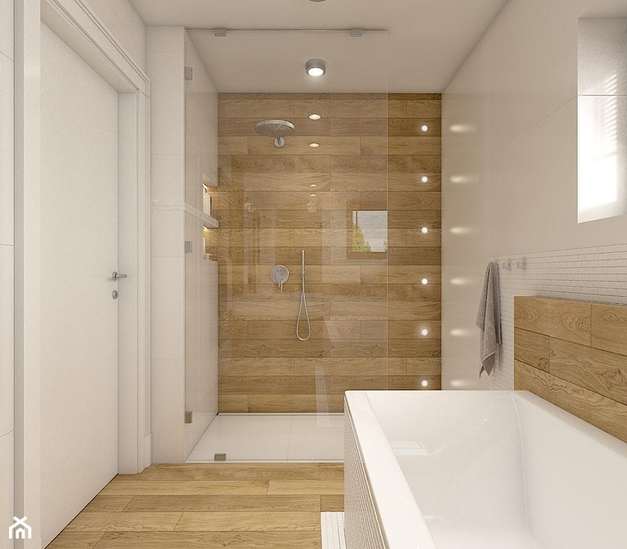 Aranżacje wnętrz - Łazienka: Dom w Opolu - Średnia biała łazienka, styl nowoczesny - WERDHOME. Przeglądaj, dodawaj i zapisuj najlepsze zdjęcia, pomysły i inspiracje designerskie. W bazie mamy już prawie milion fotografii!