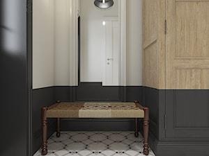 Dom pod Krakowem - styl mieszany - Mały biały czarny hol / przedpokój, styl eklektyczny - zdjęcie od WERDHOME