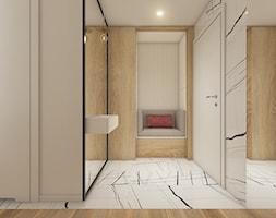 Mieszkanie w krakowie 50 m2 - Średni szary hol / przedpokój, styl nowoczesny - zdjęcie od WERDHOME