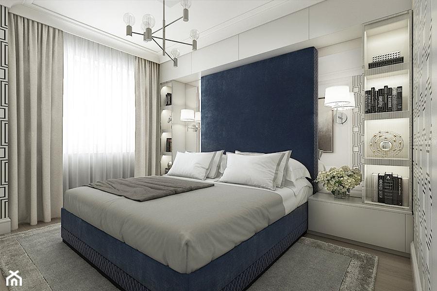 Mieszkanie w stylu nowojorskim - Mała biała sypialnia małżeńska, styl nowojorski - zdjęcie od WERDHOME