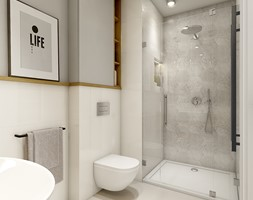 Dom w Opolu - Mała łazienka, styl nowoczesny - zdjęcie od WERDHOME