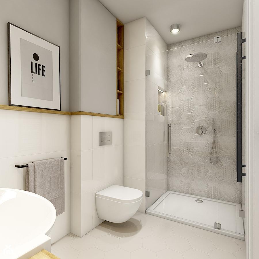 Dom w Opolu - Mała łazienka, styl nowoczesny - zdjęcie od WERDHOME - homebook