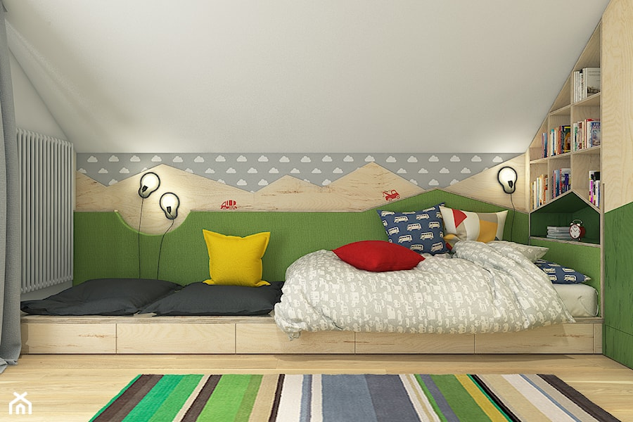 Dom pod Krakowem - przestrzeń zupełna - Średni biały szary pokój dziecka dla chłopca dla malucha - zdjęcie od WERDHOME