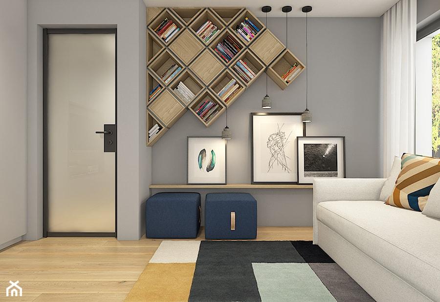 Dom pod Krakowem - przestrzeń zupełna - Średnia szara sypialnia dla gości - zdjęcie od WERDHOME