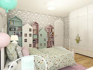 Dom w Opolu - Średni szary pokój dziecka dla dziewczynki dla malucha, styl skandynawski - zdjęcie od WERDHOME