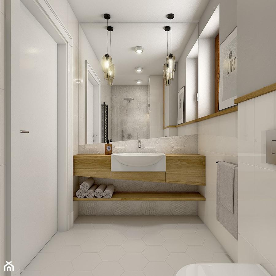 Dom w Opolu - Średnia biała łazienka, styl nowoczesny - zdjęcie od WERDHOME