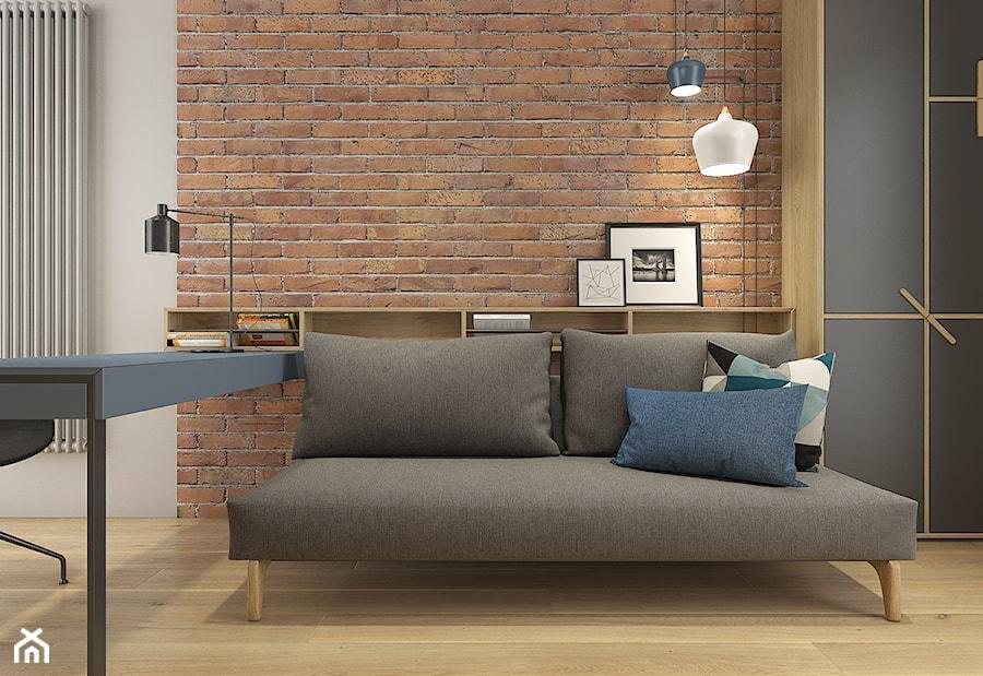 Dom pod Krakowem - przestrzeń zupełna - Średnie szare biuro domowe w pokoju - zdjęcie od WERDHOME