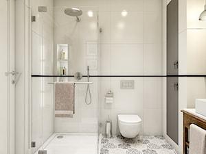 """""""wszystko i nic"""" czyli styl mieszany. - Mała biała łazienka w bloku bez okna, styl eklektyczny - zdjęcie od WERDHOME"""