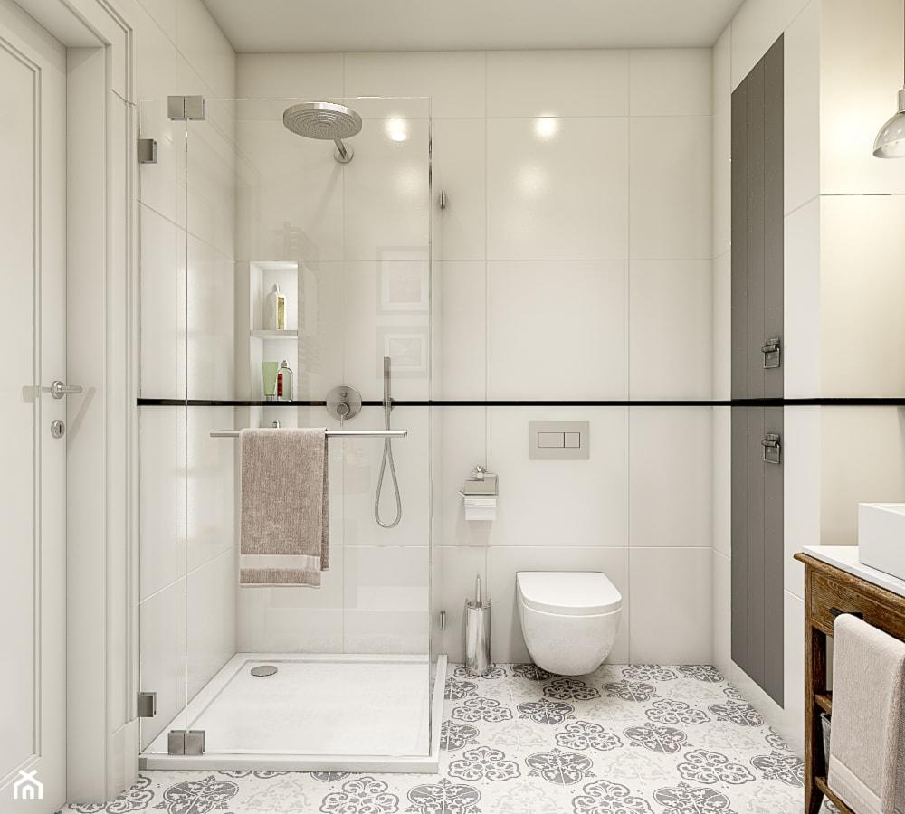 """""""wszystko i nic"""" czyli styl mieszany. - Mała biała łazienka w bloku bez okna, styl eklektyczny - zdjęcie od WERDHOME - Homebook"""