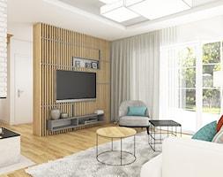 Dom w Bolesławcu - Salon, styl nowoczesny - zdjęcie od WERDHOME - Homebook