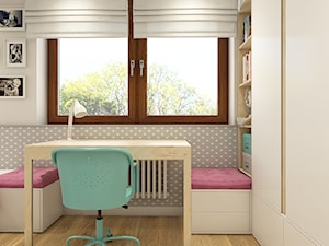 Trzy kąty - mieszkanie w Krakowie - Mały szary pokój dziecka dla dziewczynki dla ucznia dla malucha dla nastolatka - zdjęcie od WERDHOME