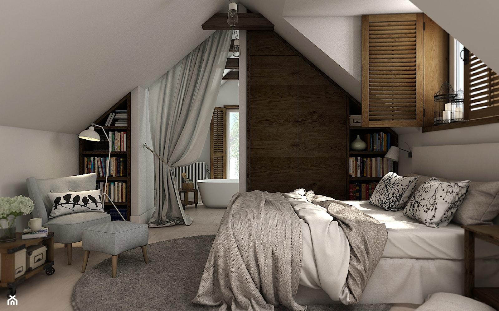 Sypialnia na poddaszu - zdjęcie od WERDHOME - Homebook